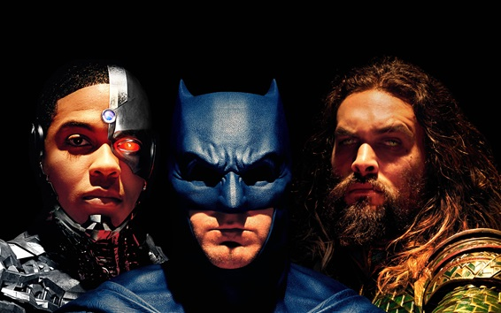 Fondos de pantalla Cyborg, Batman, Aquaman, Justice League 2017