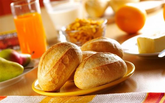 Wallpaper Delicious bread, breakfast