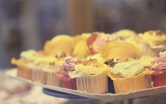 Fond d'écran Petits gâteaux délicieux, nourriture, bokeh