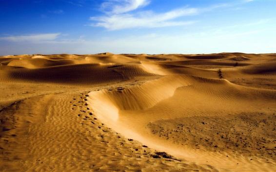 Wallpaper Desert, dunes, sand, blue sky