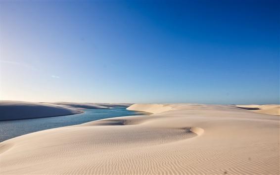 Fondos de pantalla Desierto, agua, arena