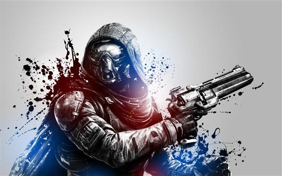Wallpaper Destiny, soldier, blood, gun, PS4 games