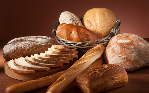 Different kinds bread Wallpaper Preview