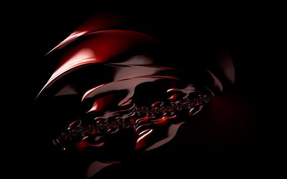 Fondos de pantalla Diseño fractal, estructura abstracta, fondo negro