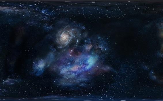Fond d'écran Galaxie, univers, espace, étoilé