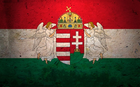 Wallpaper Hungary flag, texture background