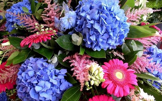 Papéis de Parede Flores de hortênsia e gerbera
