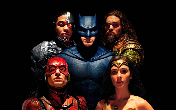 Wallpaper Justice League, superheroes, 2017 movie