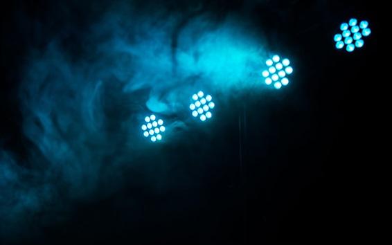 Wallpaper LED light, smoke, darkness
