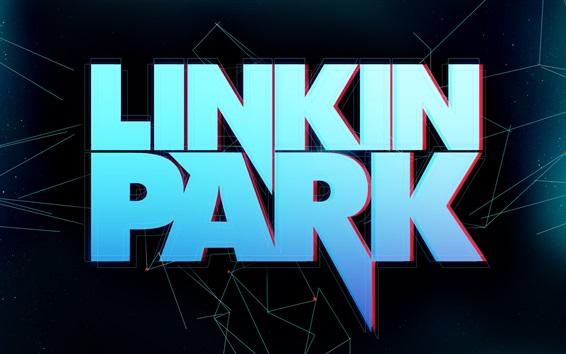 Обои Логотип рок-группы Linkin Park
