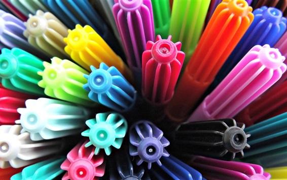 Wallpaper Multicolor pens caps
