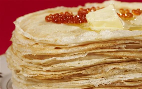 Wallpaper Pancake many layers