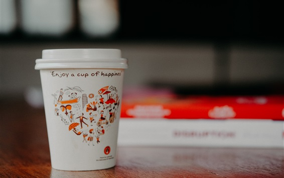 Wallpaper Paper cup, coffee