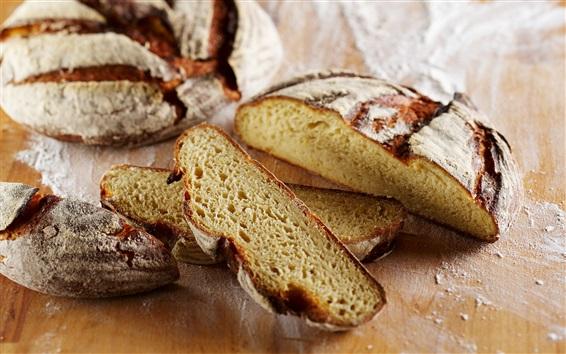 Wallpaper Pieces of bread, flour