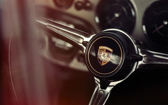 Обои Рулевое колесо Porsche