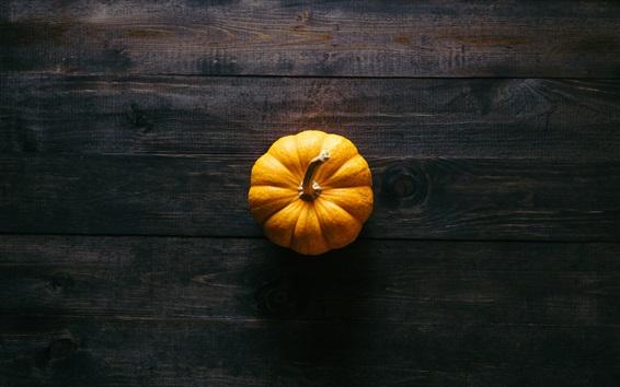 Wallpaper Pumpkin, wooden floor