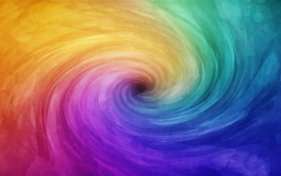 Wallpaper Rainbow spiral