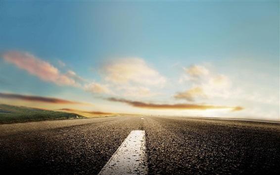 Wallpaper Road, ground, sky, blurry