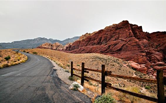 Papéis de Parede Estrada, pedras, pedregulhos