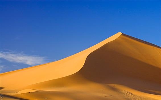 Wallpaper Sahara Desert, sand hill, blue sky