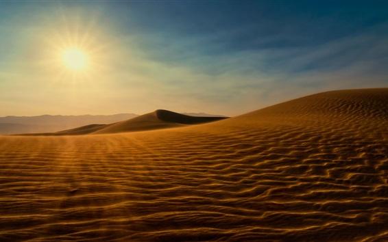 Wallpaper Sahara Desert, sunshine