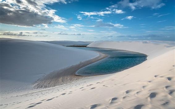 Wallpaper Sands, hill, lake, desert
