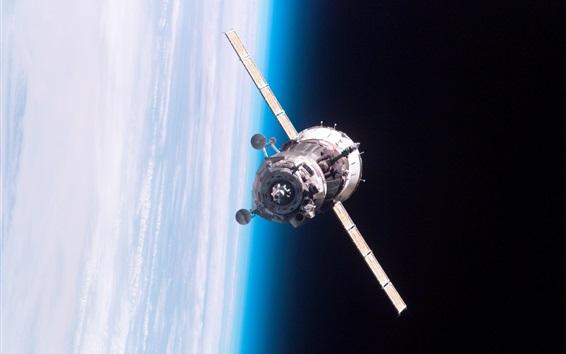 Wallpaper Satellite, space, blue earth
