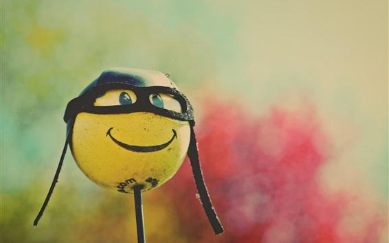 Fond d'écran Boule de sourire, lunettes, humour