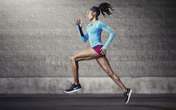 Wallpaper Sport, running girl