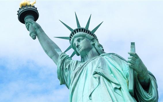 Fond d'écran Statue de la Liberté, ciel bleu, USA