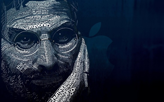 Wallpaper Steve Jobs, art picture