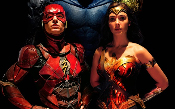Fond d'écran Le Flash, Wonder Woman, Justice League 2017