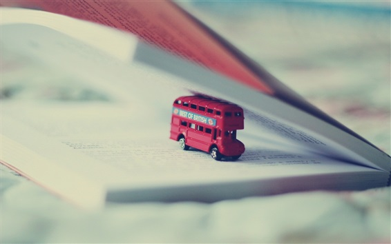 Wallpaper Toy bus, book
