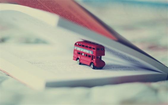 壁紙 おもちゃバス、本