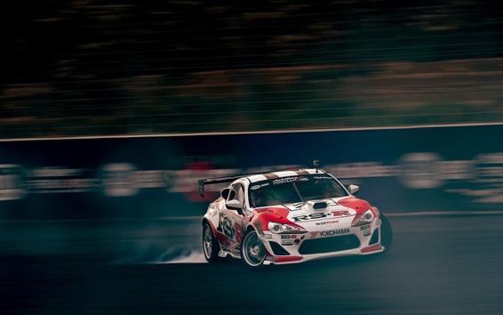 Wallpaper Toyota race car speed, drift