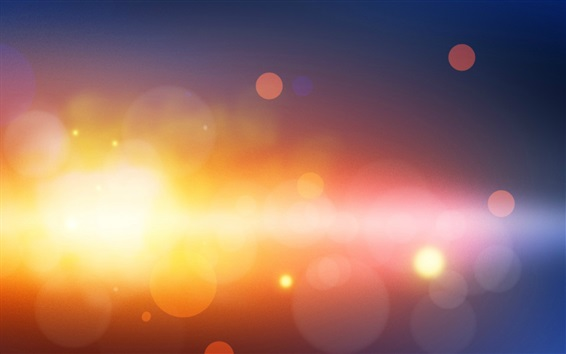 Papéis de Parede Círculos de luz quente, brilho