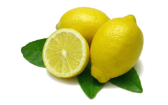 Wallpaper Yellow lemon, white background