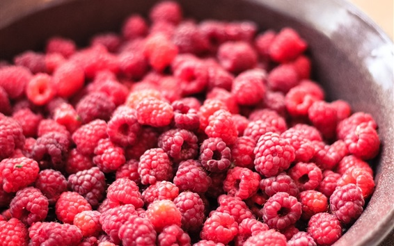 Wallpaper A lot of red raspberry, delicious berries