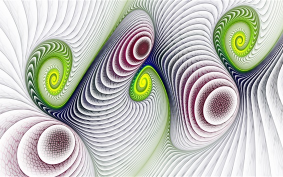 Wallpaper Abstract picture, curved lines, spiral, colors