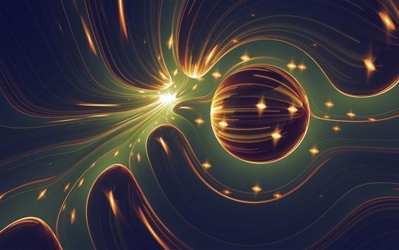 Wallpaper Abstract world, ball, light
