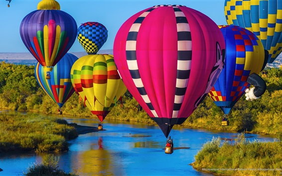 Wallpaper Albuquerque, New Mexico, sport, colorful hot air balloons