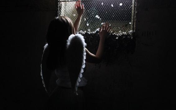 Fond d'écran Ange fille en prison