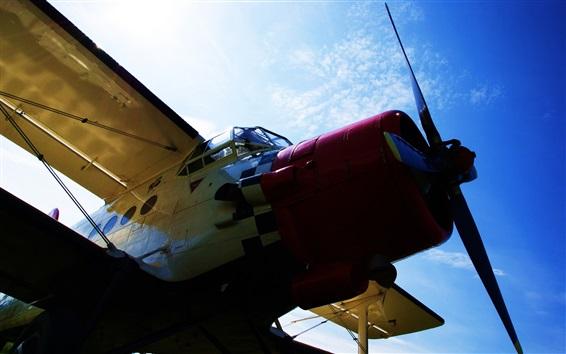 Wallpaper Antonov An-2 aircraft, blue sky, clouds