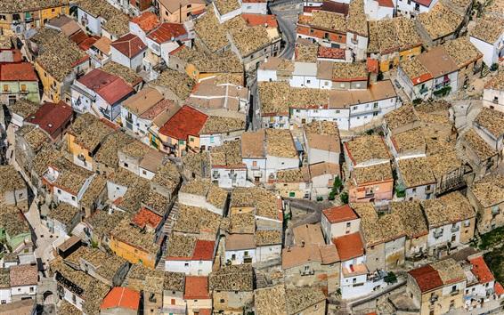 Wallpaper Apulia, Foggia, Italy, houses, city, top view