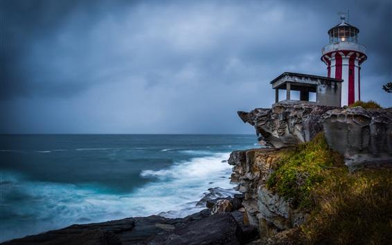 Wallpaper Australia, New South Wales, Sydney, Hornby Lighthouse, sea, coast