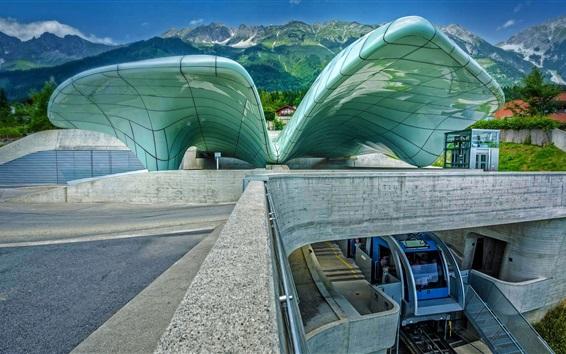 Wallpaper Austria, Innsbruck, Hungerburgbahn, funicular, station