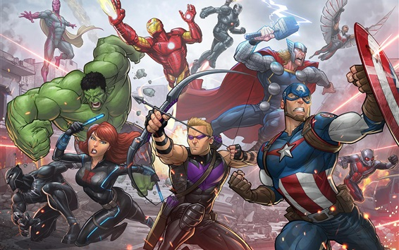 Wallpaper Avengers: Age of Ultron, superheroes, art picture