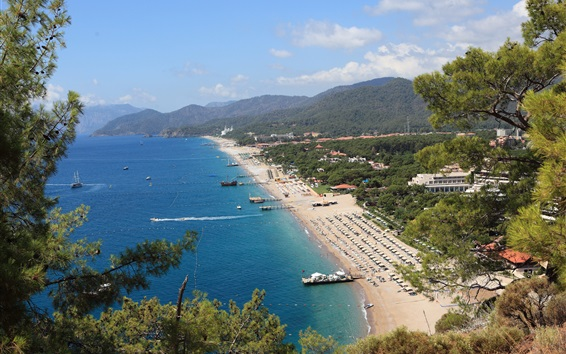 Wallpaper Beach, sea, coast, resort