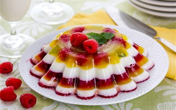 Wallpaper Beautiful dessert, layers, berries