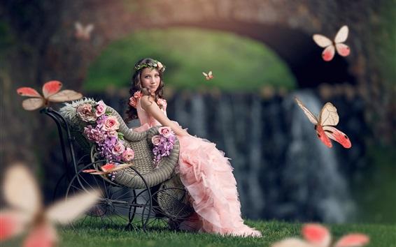 little girl butterfly wallpapers - photo #41